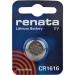 Pin RENATA CR1616.CU