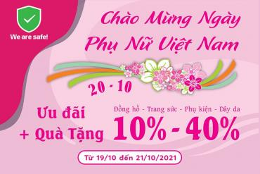 Chương trình khuyến mãi lên đến 40% nhân ngày Phụ nữ Việt Nam 20 tháng 10